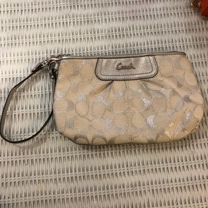 Coach wristlet - Grey and Silver